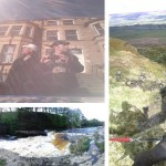 top: we had to wear hats on a stag do, right - view from Pen Hill, bottom - Aysgarth Lower Falls