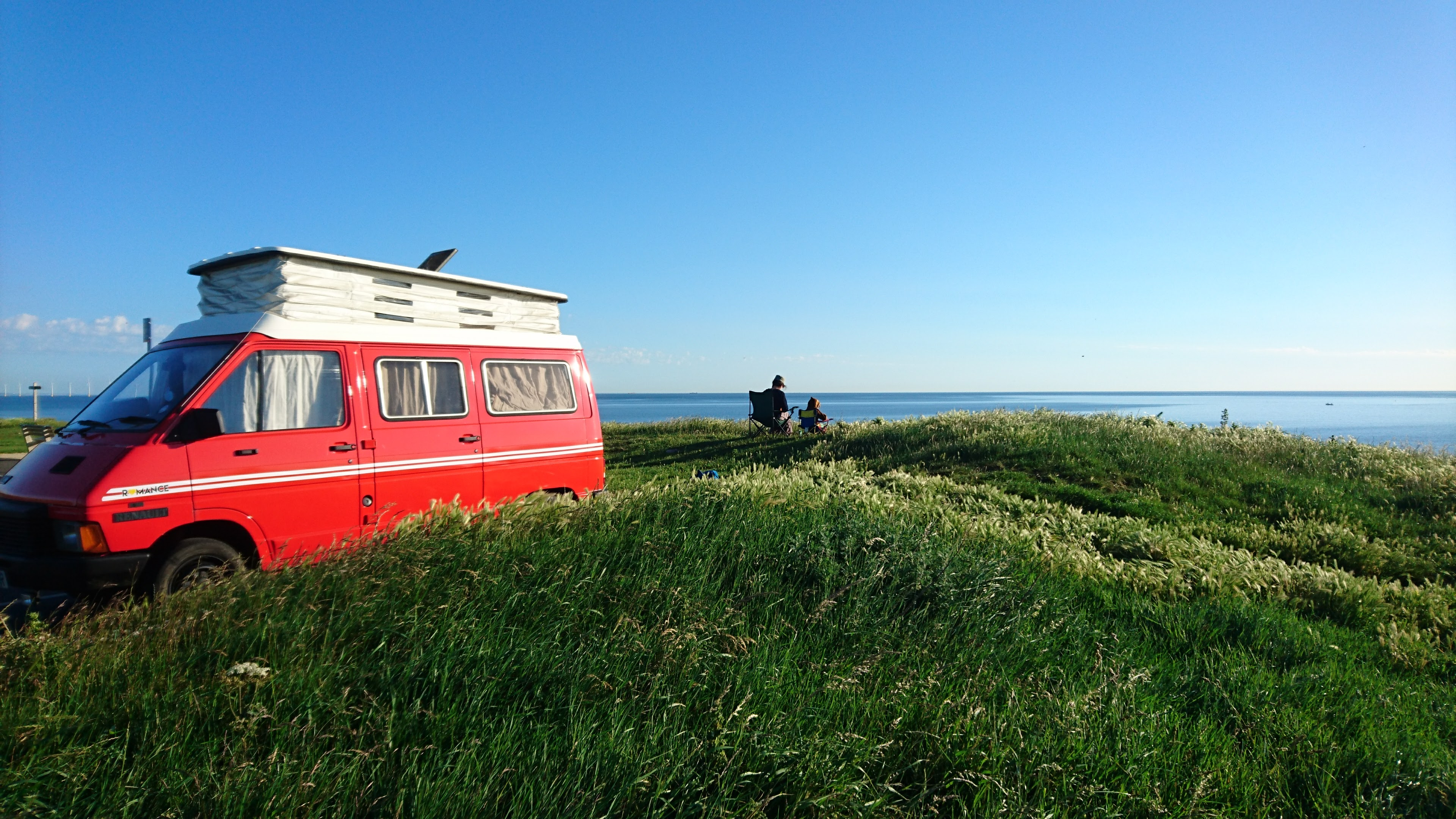 Red Van on cliff top