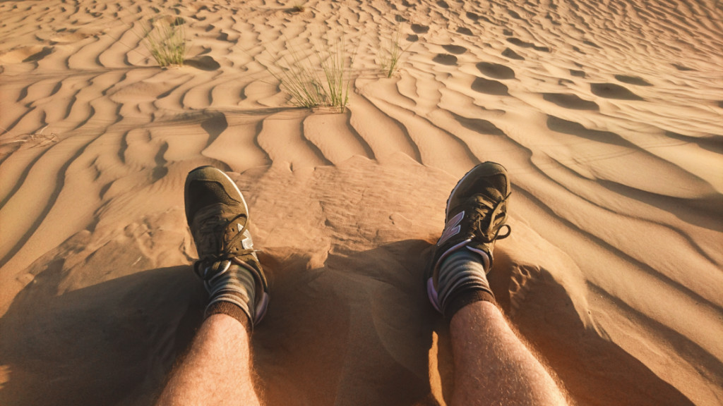Me having a nice sit down in the desert